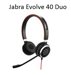 Image of Jabra Evolve 40 Duo headset