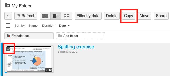 copy recording option