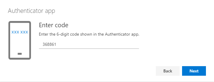 Enter the 6-digit code
