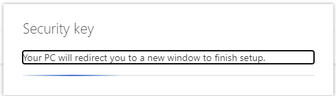 Your PC will redirect you to a new window to finish setup