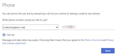 Click the radio button next to 'Call me'