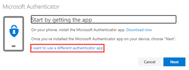 I want to use a different authenticator app