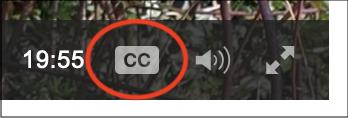 podcasts captions cc button