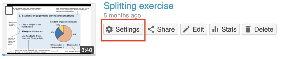 settings icon panopto