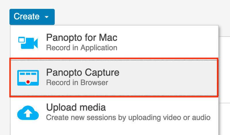 panopto capture create