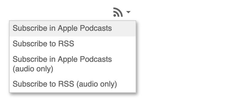 Panopto podcast feeds