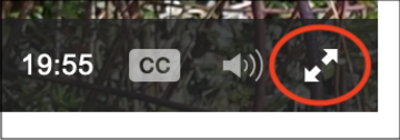 podcasts captions fullscreen button